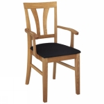 Inzel armchair V oak oiled, Nature black