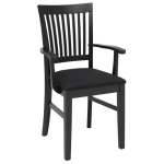 Inzel armchair SP elm black, Nature black
