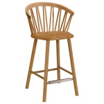 ZigZag bar armchair 63cm oak oiled