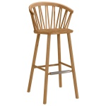 ZigZag bar armchair 78cm oak oiled