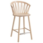 ZigZag bar armchair 63cm ash blonde