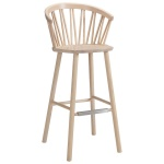 ZigZag bar armchair 78cm ash blonde
