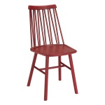 ZigZag chair ash dark red