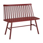 ZigZag bench ash dark red