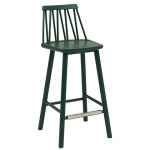 ZigZag barchair 63cm green stain