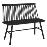 ZigZag bench ash black
