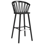 ZigZag bar armchair 78cm ash black