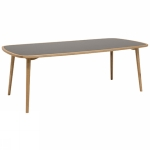 Colibri table linoleum 212x102cm oak oiled