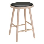 Colibri barstool 63cm oak blonde, bonded leather black emb