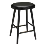 Colibri barstool 63cm oak black, bonded leather black emb