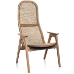 Racquet armchair high oak oiled