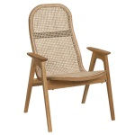 Racquet armchair low oak oiled