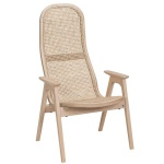 Racquet armchair high oak blonde