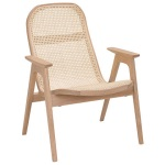 Racquet armchair low oak blonde