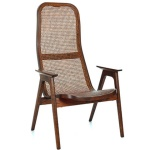 Racquet armchair high oak espresso