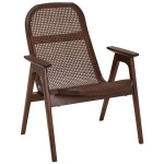 Racquet armchair low oak espresso