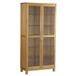 Inzel vitrine 2-door oak oiled