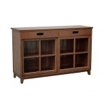 Bridgeport bookcabinet low brown
