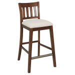 Bridgeport barchair 63cm SP brown, Cottage beige