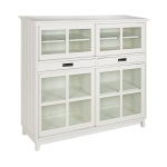Bridgeport bookcabinet high white