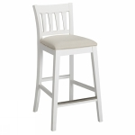 Bridgeport barchair 63cm SP white, Cottage beige