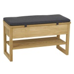 Enter bench lid oak, Nature graphite grey